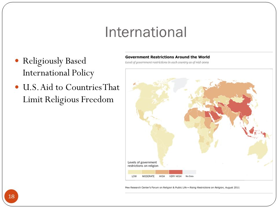 International 18 Religiously Based International Policy U.S.