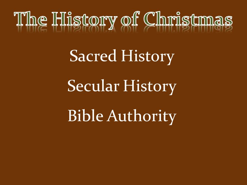 Sacred History Secular History Bible Authority