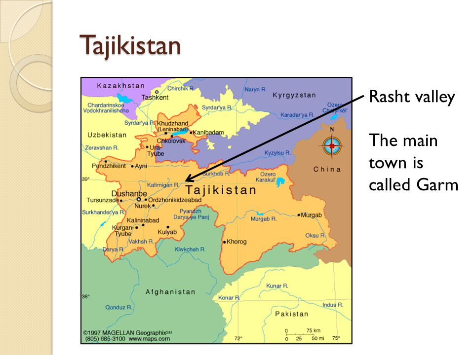 Rasht and the Tajik civil war From 1950s: forced migrations to south from Garm region of Rasht valley 1950s-90s: emergence of 'Garmi' identity and land conflicts in South From 1992: civil war between regional factions including 'Garmis' allied to the military formation of the Islamic Revival Party of Tajikistan From 1993: 'Garmi' groups, having been forced into Afghanistan, return to the Rasht valley to continue the war 1996: Garm Protocol signed 27 June 1997: General Peace Agreement involving incorporation of Garmi commanders into state