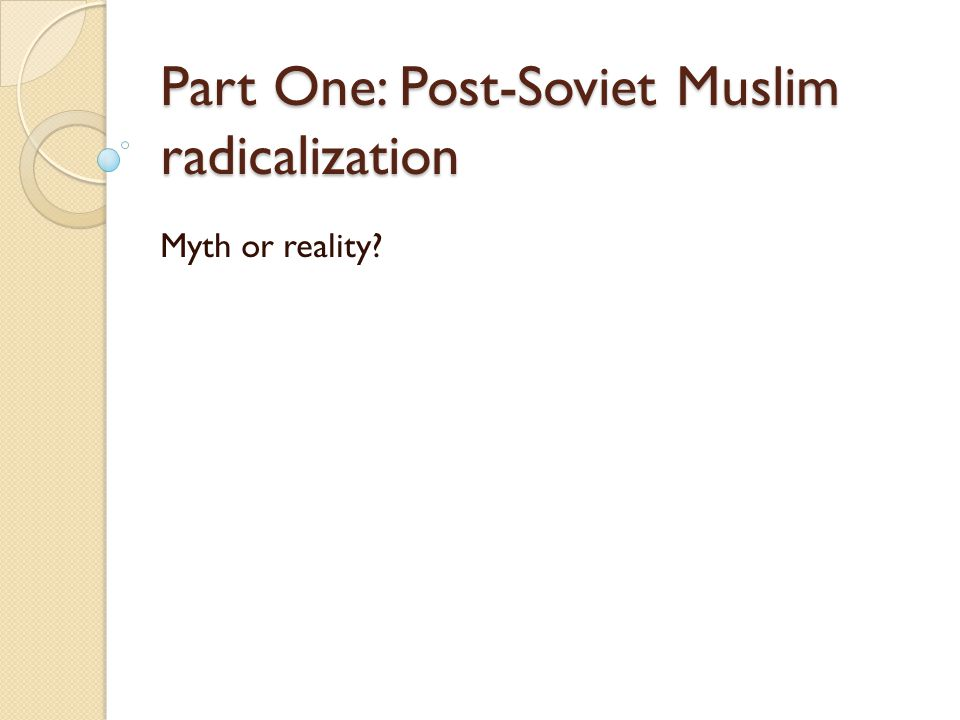 Six claims about Political Islam in Central Asia 1.