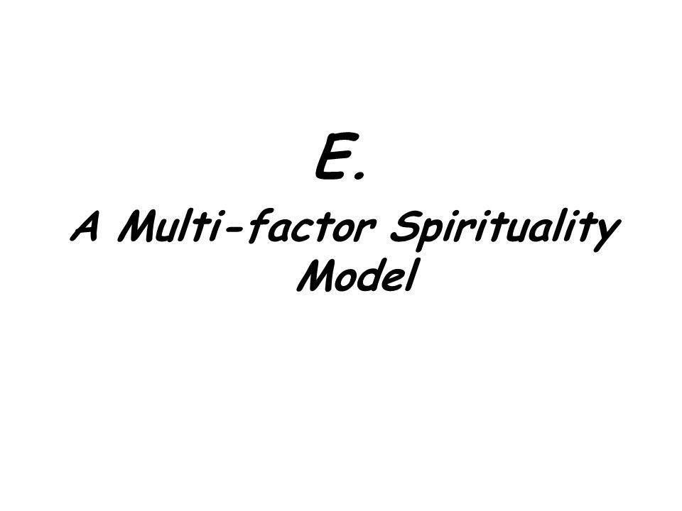 E. A Multi-factor Spirituality Model