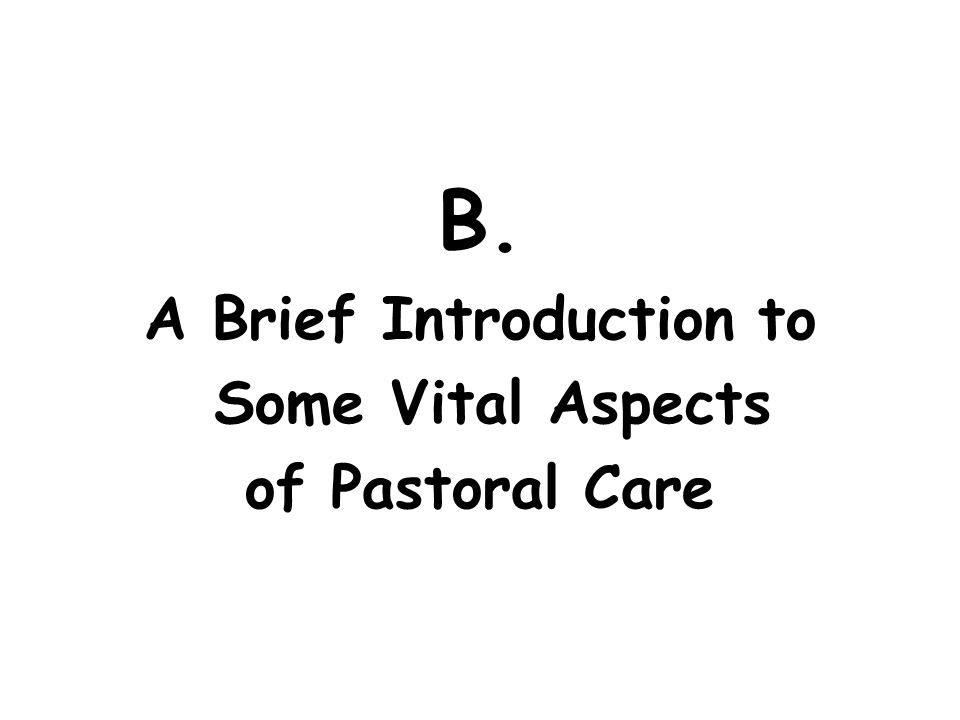It is exactly because of my theological reflection that I operate with a double (or complementary) approach to life and faith, both within the realm of pastoral care: a.A general perspective – including all components of human beingness concerning body, mind and spirit within a family and social context, hereby all natural desires, longings, and hungers of the human heart, and the kind of faith evolving from that (i.e.