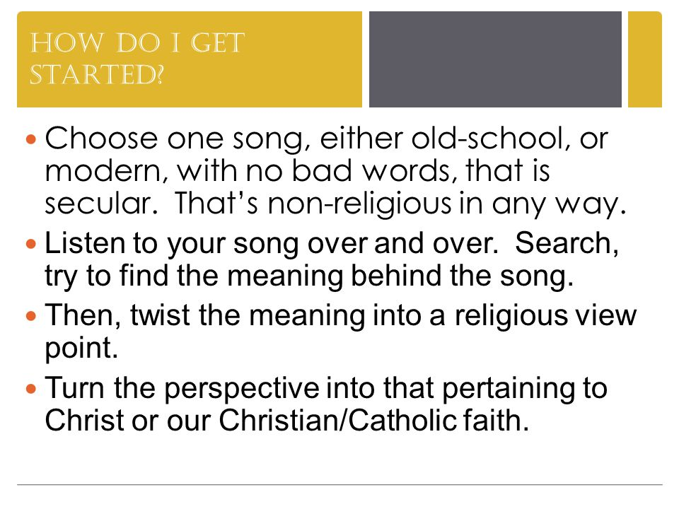 How do I do this.Imagine Christ speaking the words.