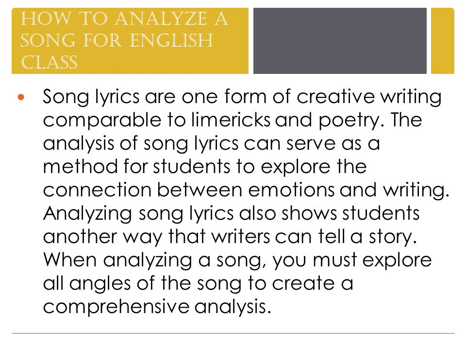 1.Research the song s subject.
