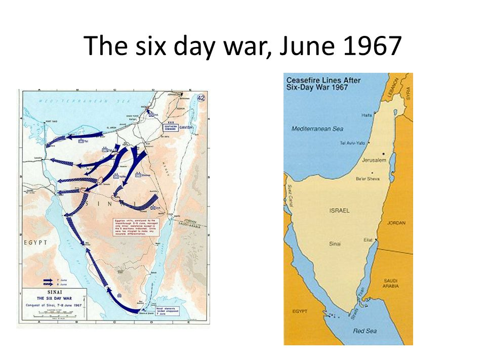 The six day war, June 1967