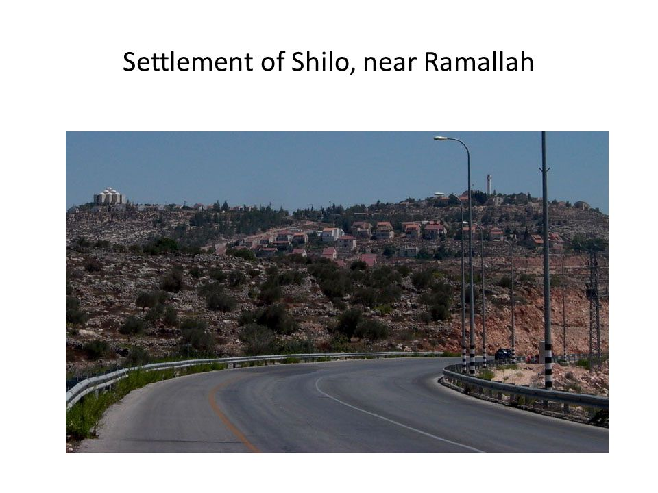 Settlement of Shilo, near Ramallah