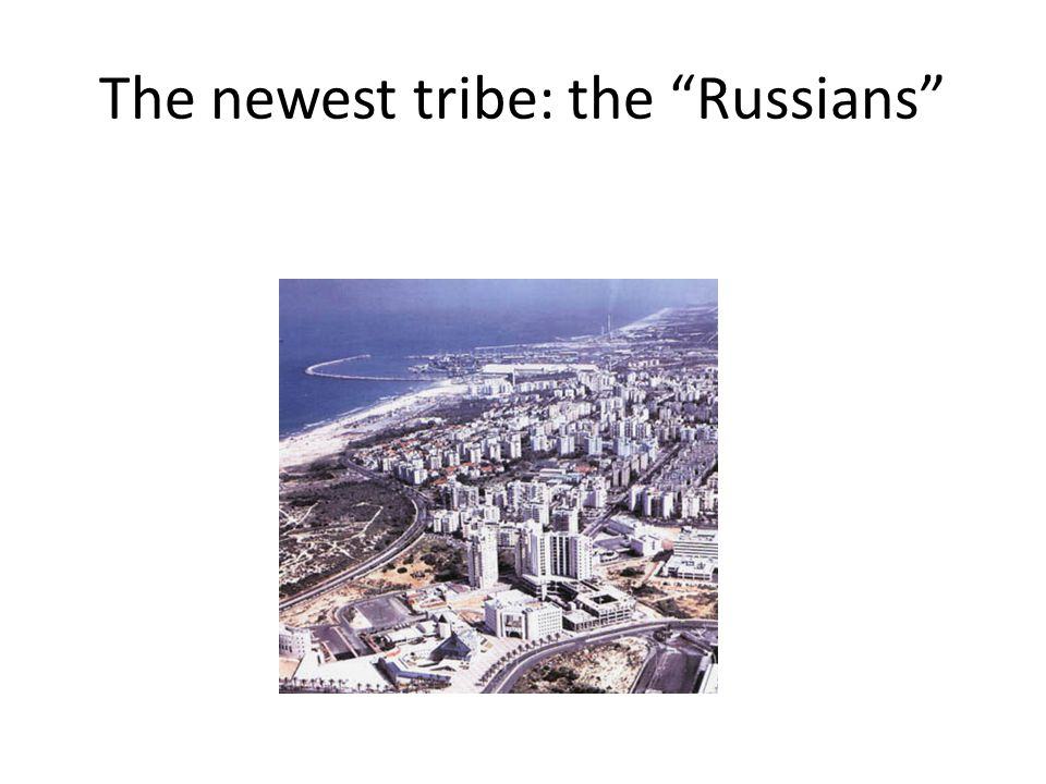 The newest tribe: the Russians