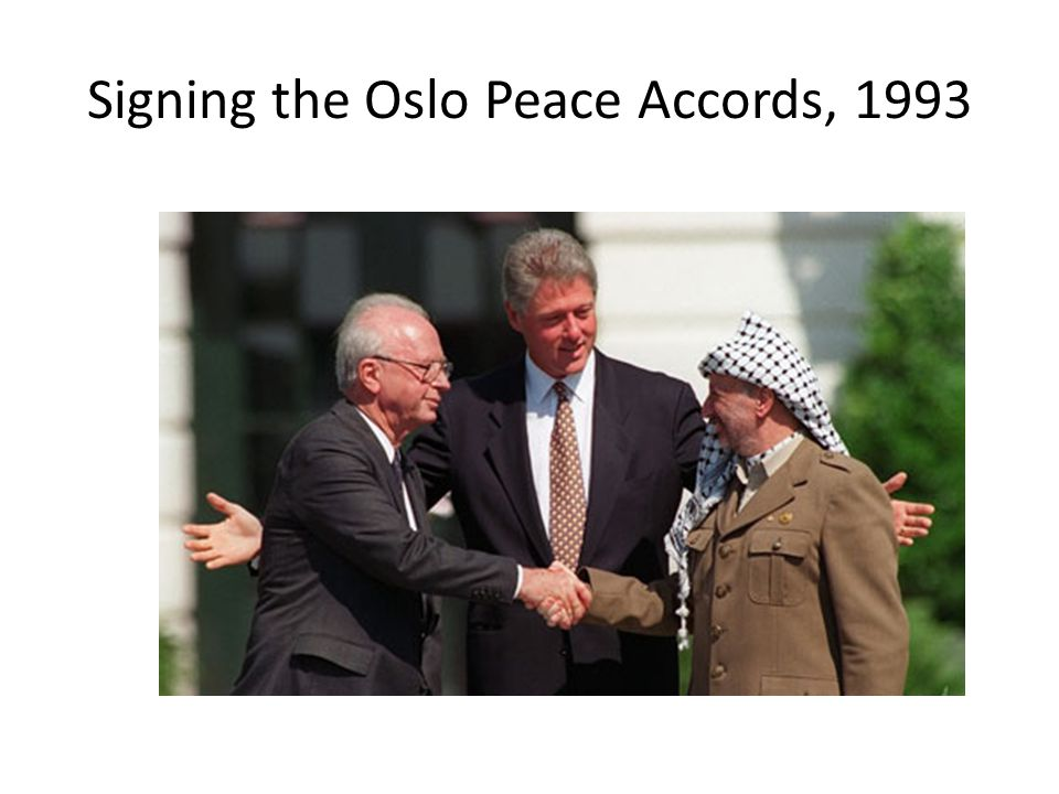 Signing the Oslo Peace Accords, 1993