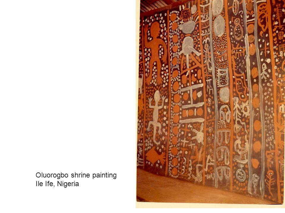 Oluorogbo shrine painting Ile Ife, Nigeria