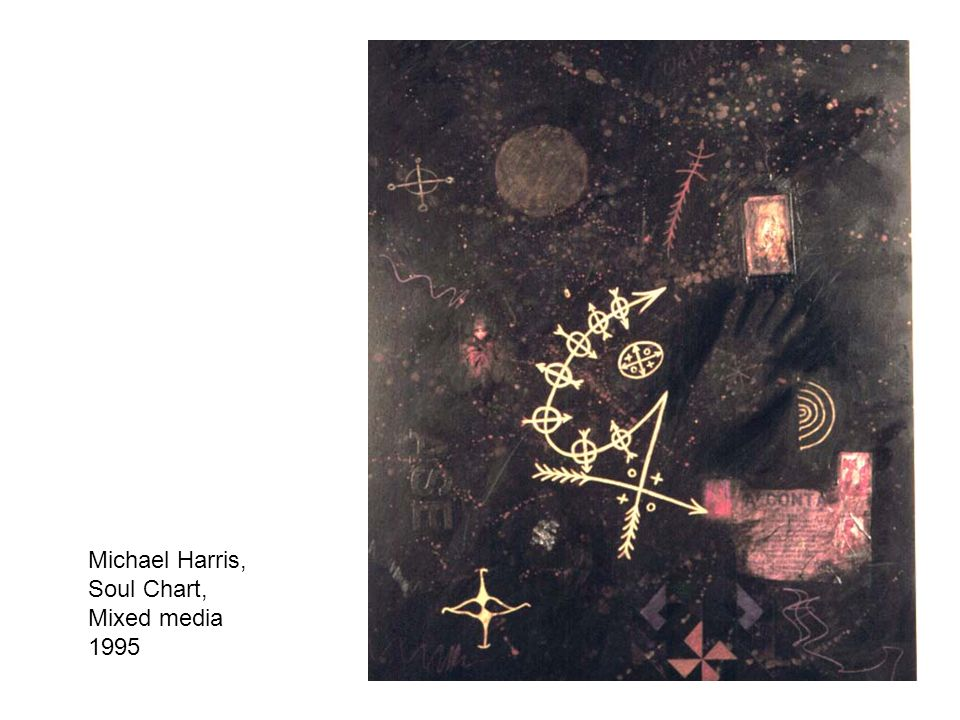 Michael Harris, Soul Chart, Mixed media 1995