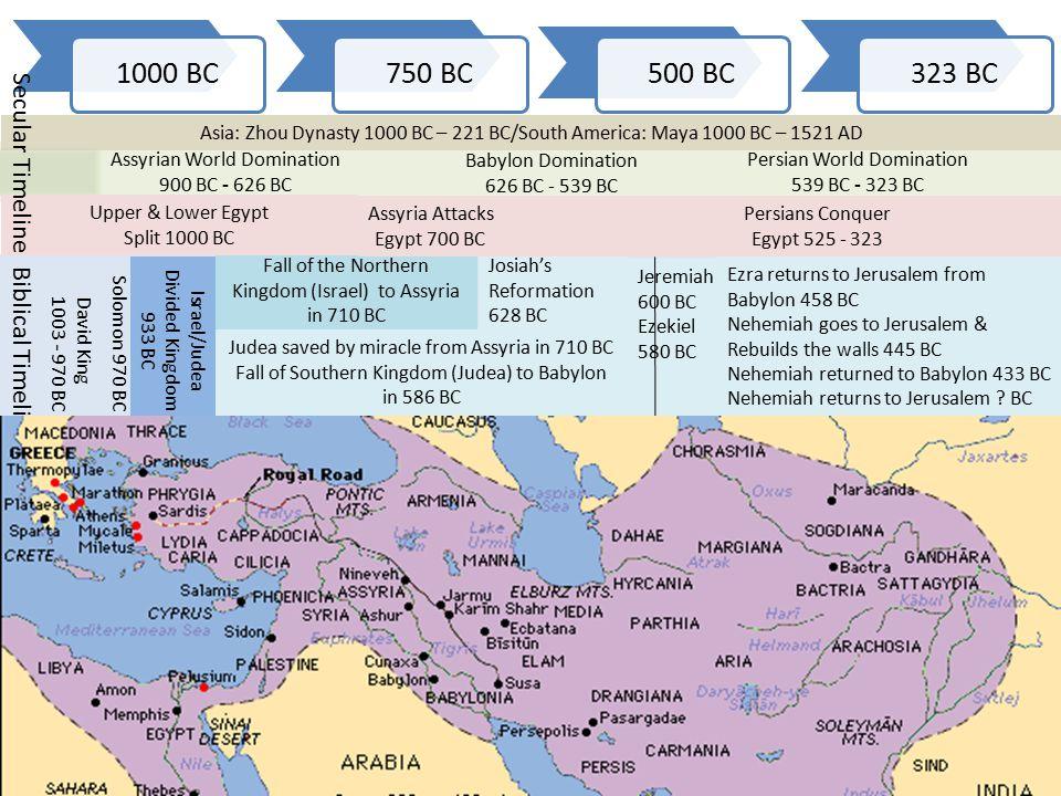 Ptolemaic Dynasty 200 BC – 30 BC Greeks conquer Egypt 323 BC – 200 BC Romans Conquer Egypt 30 BC – 646 AD Roman Empire 200 BC – 500 AD Hellenistic Greece Empire 323 BC - 200 BC Jews in the Diaspora.