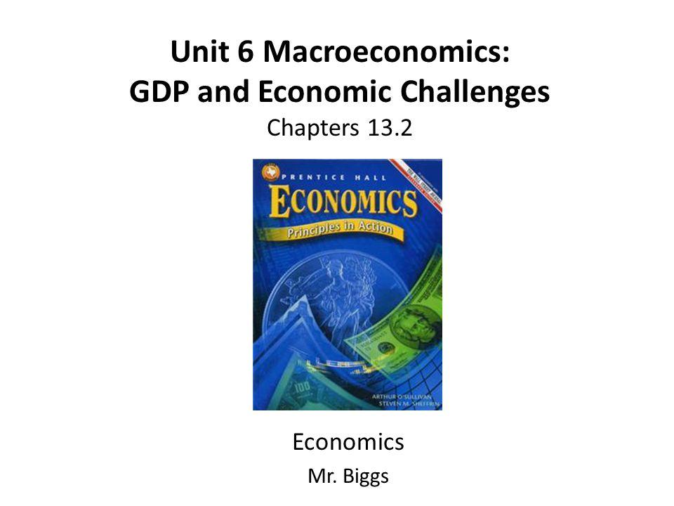 Unit 6 Macroeconomics: GDP and Economic Challenges Chapters 13.2 Economics Mr. Biggs