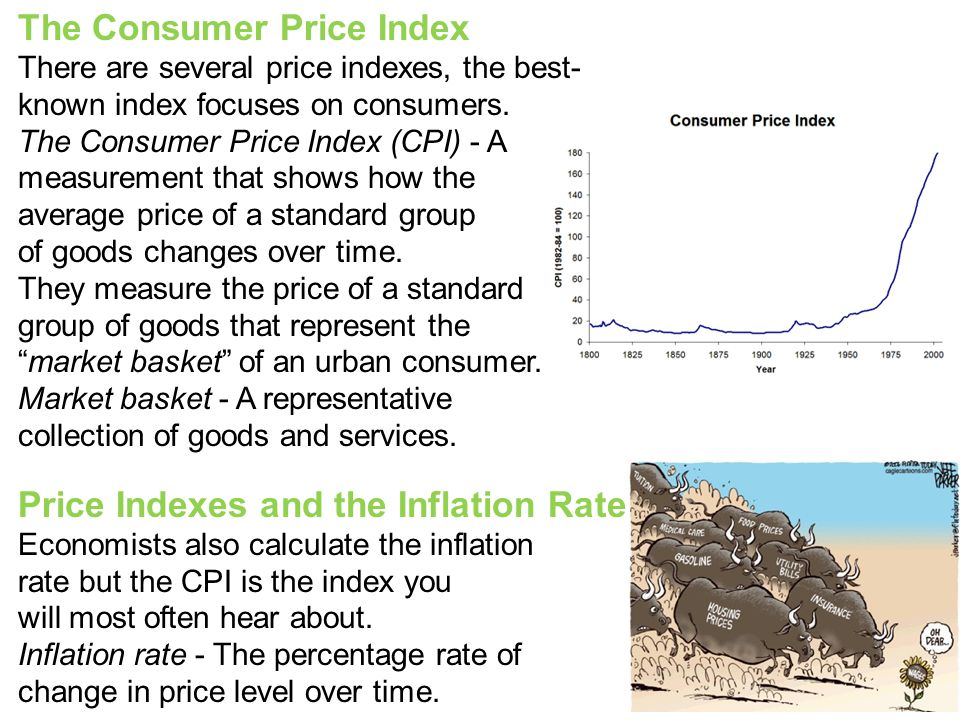 The Consumer Price Index There are several price indexes, the best- known index focuses on consumers.