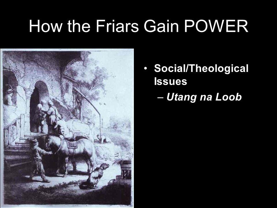 How the Friars Gain POWER Social/Theological Issues –Utang na Loob