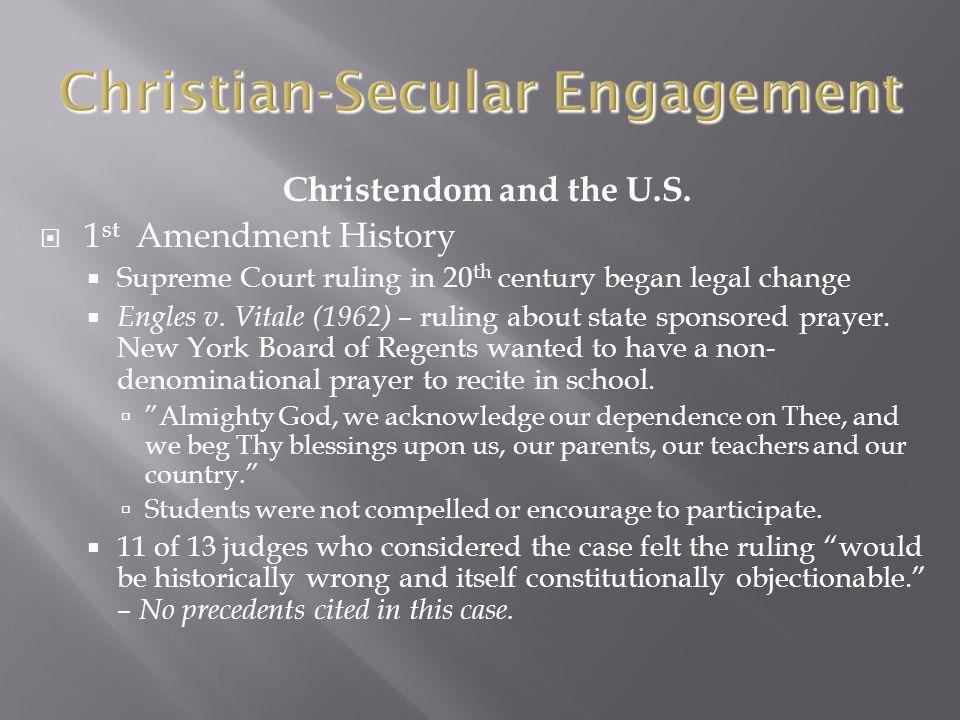 Christendom and the U.S.