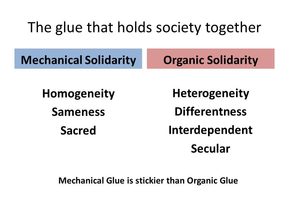 The Shift in Social Integration Social Integration Anomie