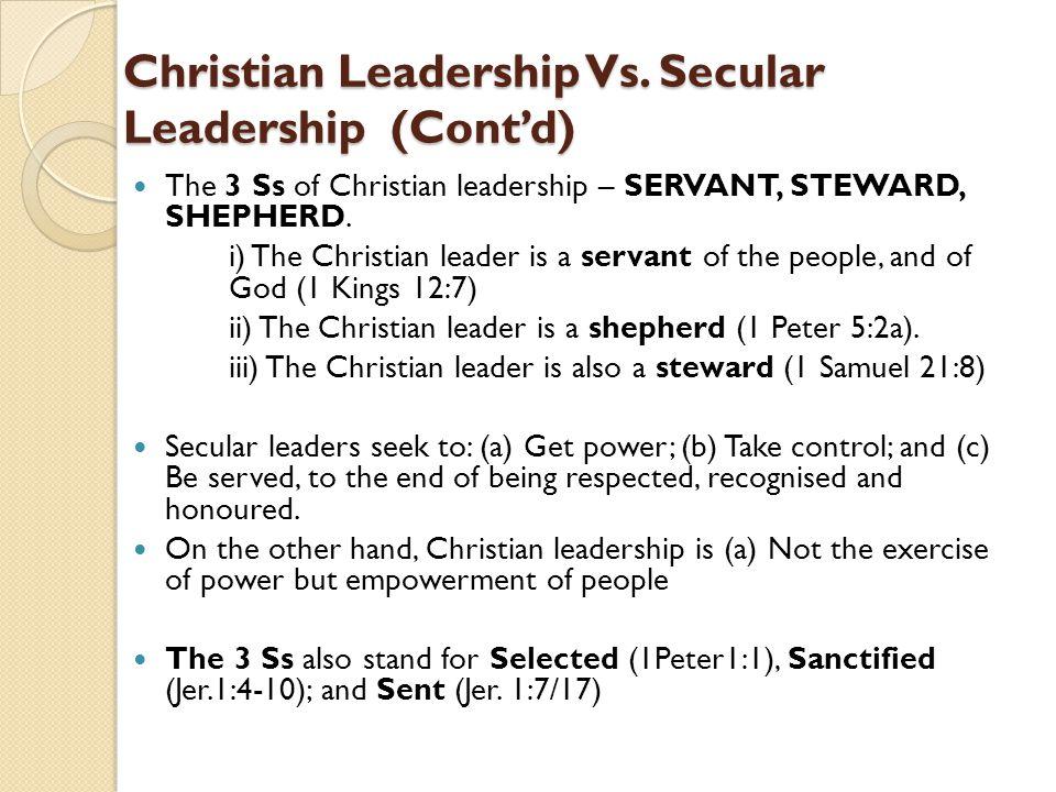 Christian Leadership Vs.