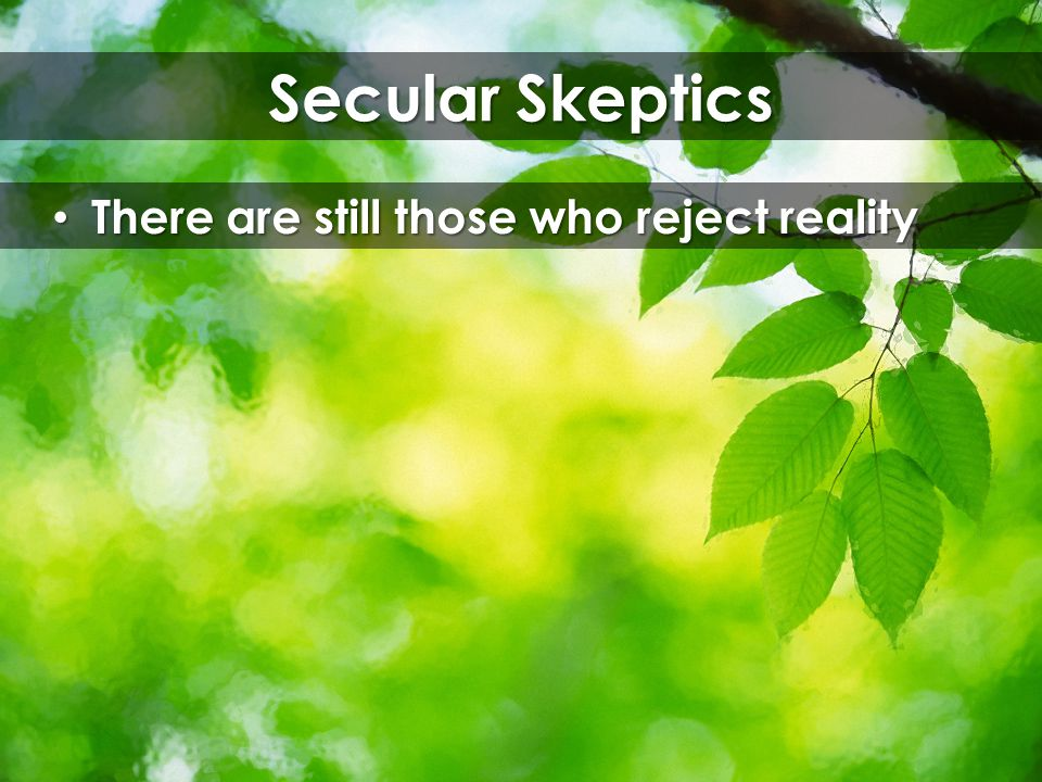 Secular Skeptics There are still those who reject reality There are still those who reject reality