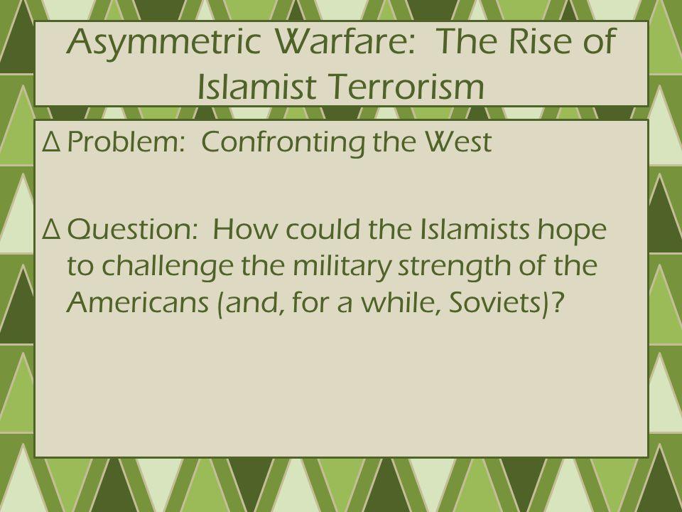 Rise of Al-Qaeda ∆Goals of Al-Qaeda – Overthrow secular Muslim gov'ts (esp Saudi Arabian gov't) – Support radical Islamist movements around world – Encourage rise of worldwide Islamic Caliphate