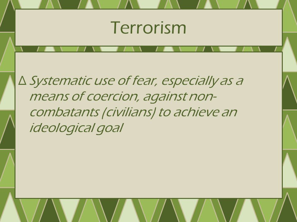 Why is Terrorism so Effective.