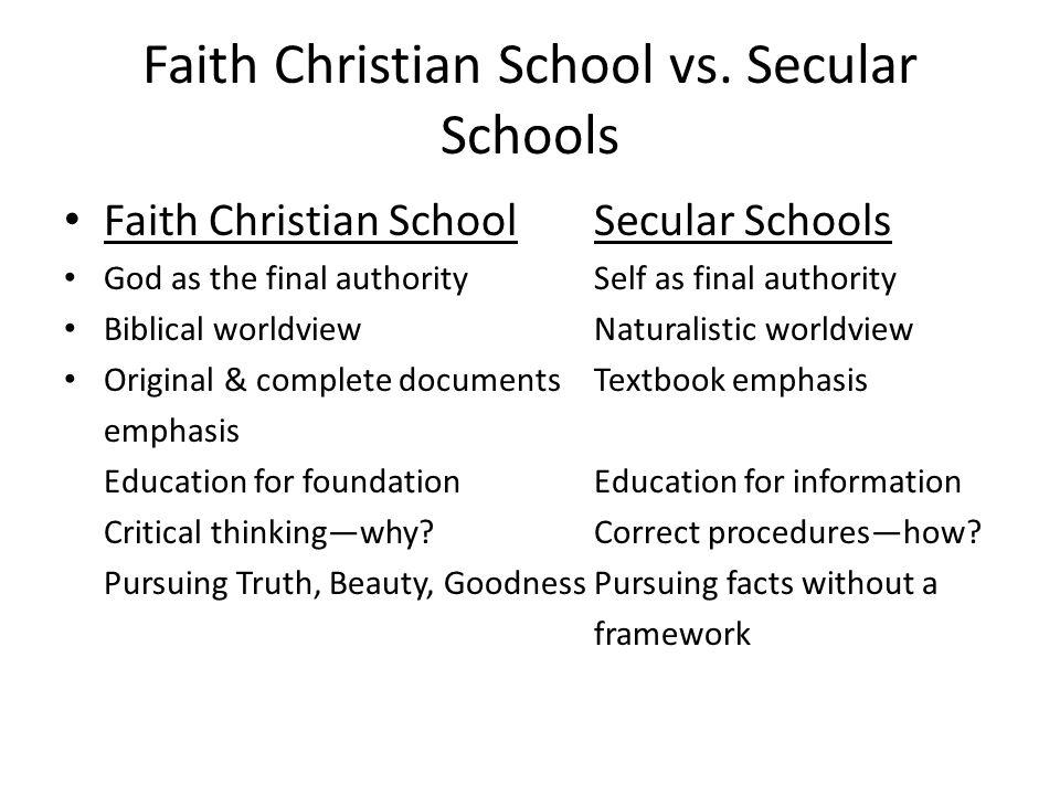 Faith Christian School vs.