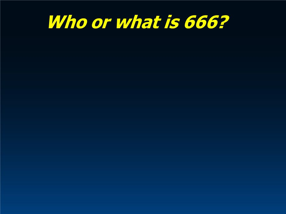 Who or what is 666
