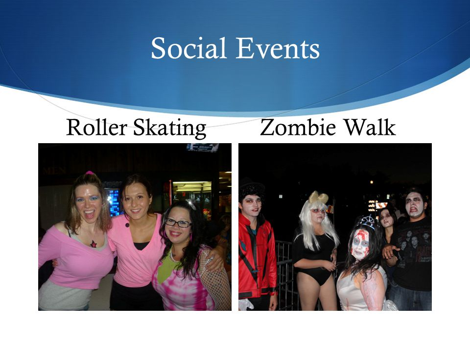 Social Events Roller SkatingZombie Walk