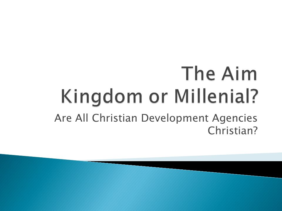 Are All Christian Development Agencies Christian