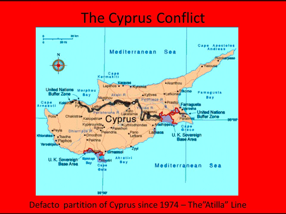 The Cyprus Conflict Defacto partition of Cyprus since 1974 – The Atilla Line