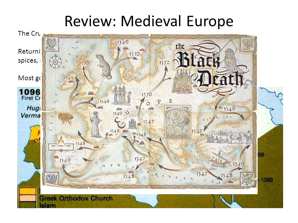 Review: Medieval Europe The Crusades resulted in an increase in trade.
