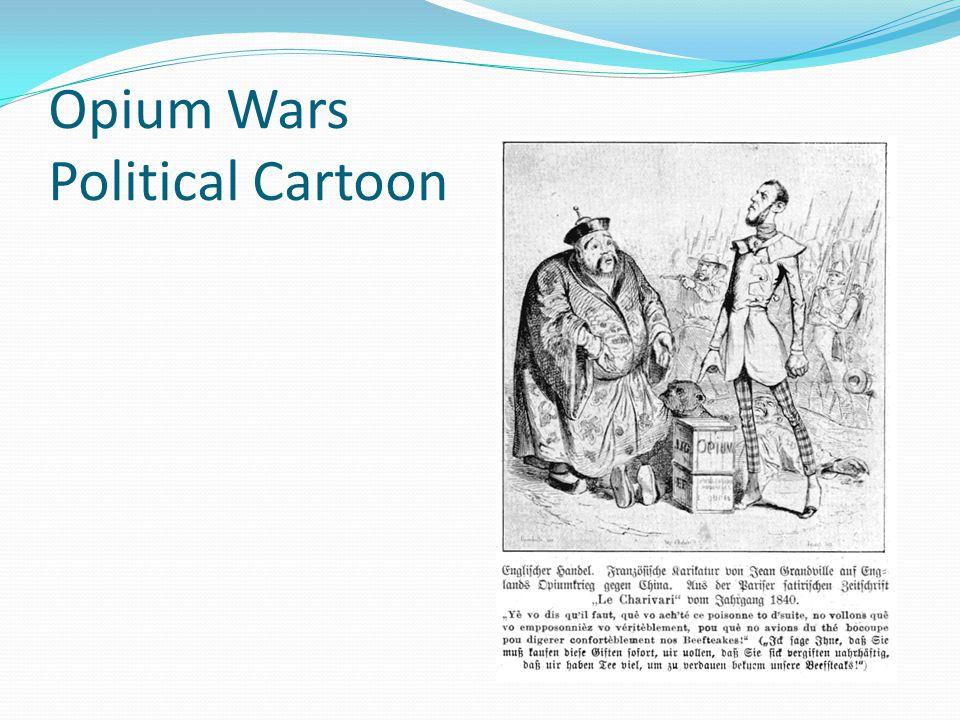 Opium Wars Political Cartoon