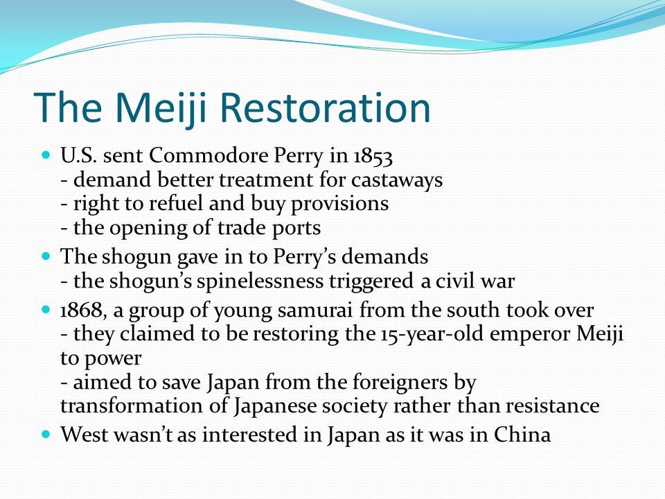 The Meiji Restoration U.S.