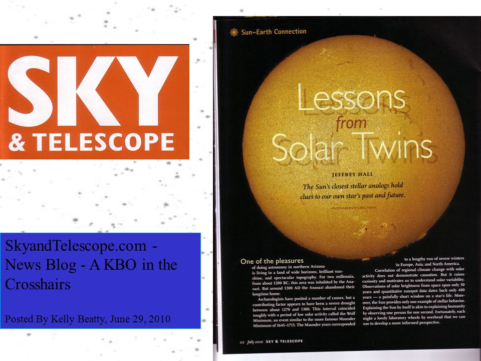SkyandTelescope.com - News Blog - A KBO in the Crosshairs Posted By Kelly Beatty, June 29, 2010