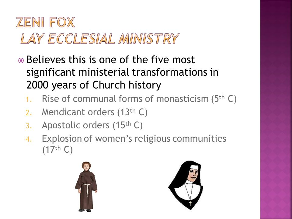  Believes this is one of the five most significant ministerial transformations in 2000 years of Church history 1.