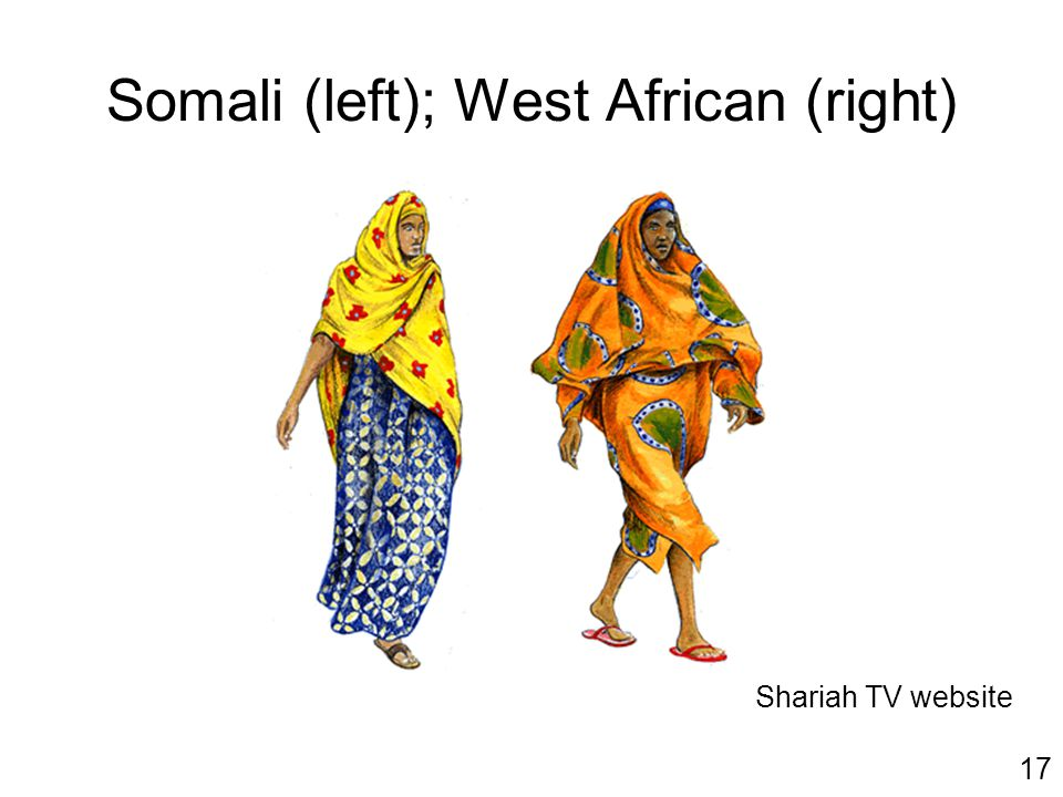 Somali (left); West African (right) Shariah TV website 17