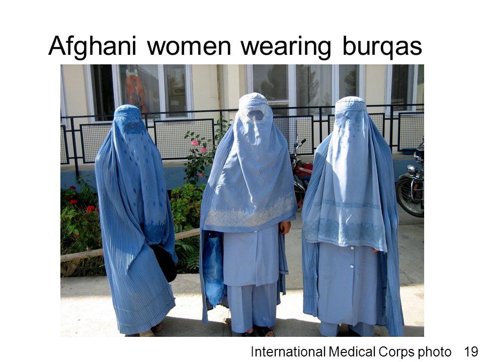 Afghani women wearing burqas International Medical Corps photo19