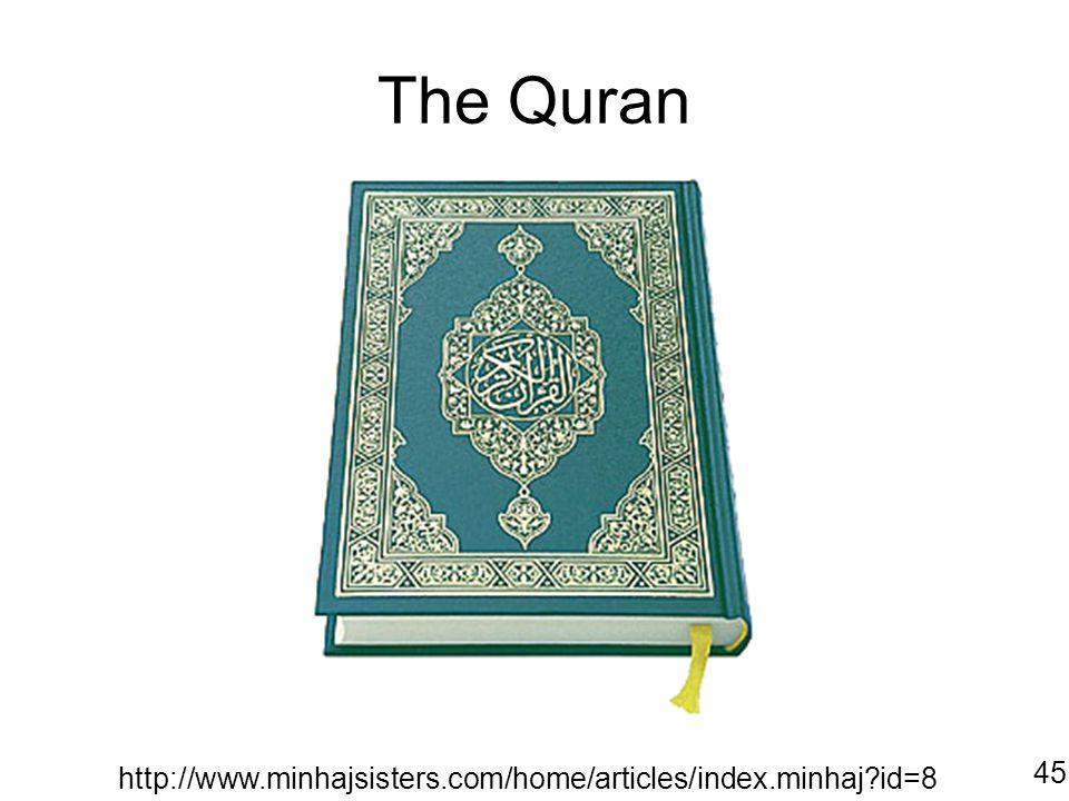 The Quran http://www.minhajsisters.com/home/articles/index.minhaj?id=8 45