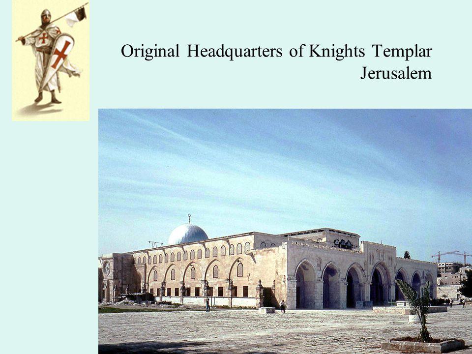 Original Headquarters of Knights Templar Jerusalem