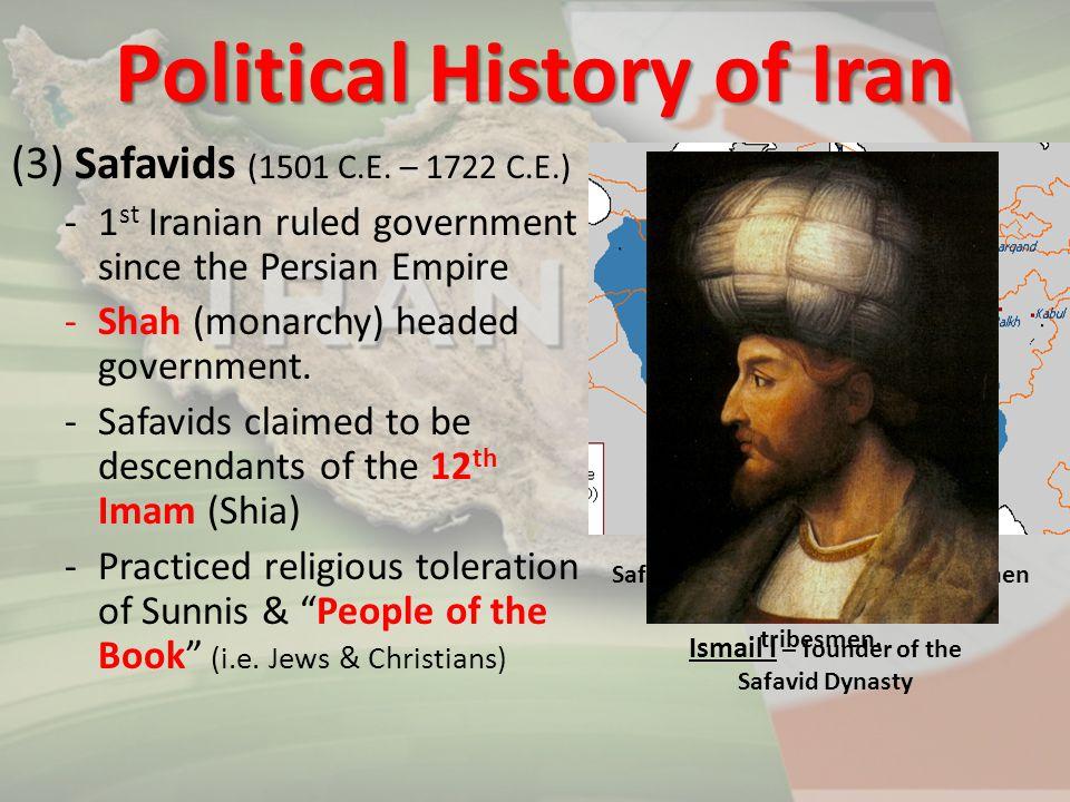 (4) Qajars (1794 C.E.