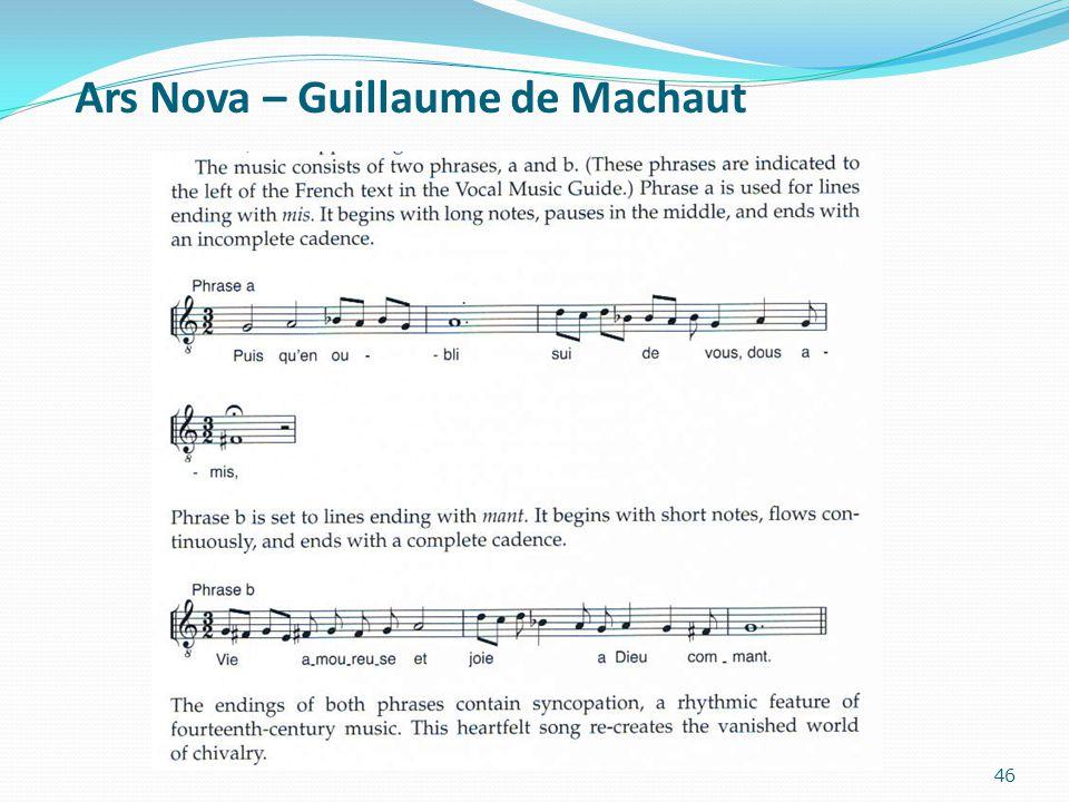 Ars Nova – Guillaume de Machaut 46