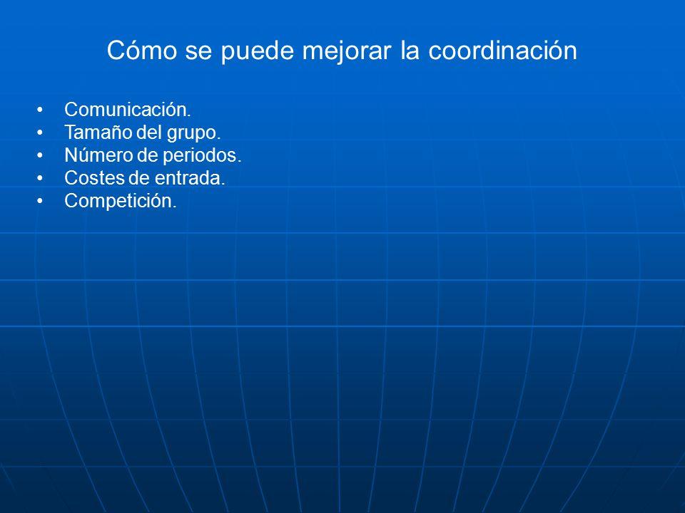 Cómo se puede mejorar la coordinación Comunicación.