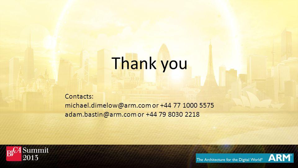 Contacts: michael.dimelow@arm.com or +44 77 1000 5575 adam.bastin@arm.com or +44 79 8030 2218 Thank you