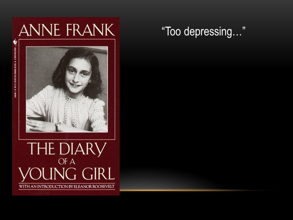 Too depressing…