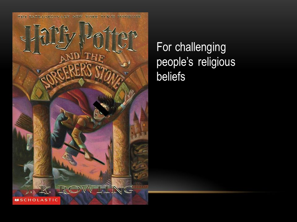 For challenging people's religious beliefs and explicit material