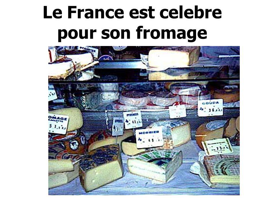 Le France est celebre pour son fromage