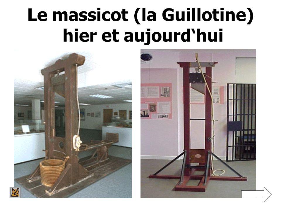 Le massicot (la Guillotine) hier et aujourd'hui