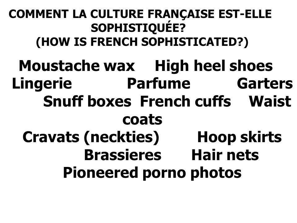COMMENT LA CULTURE FRANÇAISE EST-ELLE SOPHISTIQUÉE.