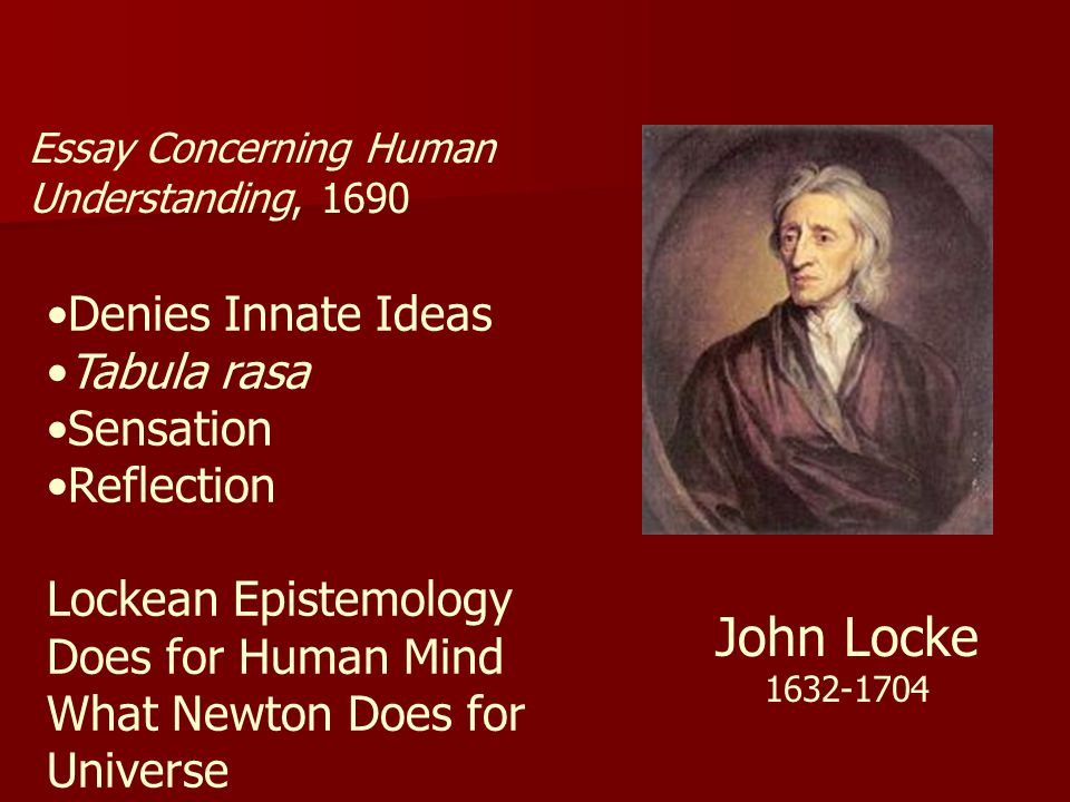 summary of an essay on human understanding by john locke John locke, an essay concerning human understanding in focus john locke's essay concerning human understanding is among the most important books in.