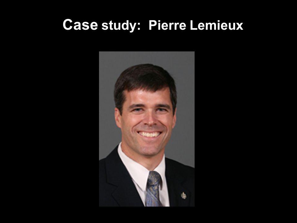Case study: Pierre Lemieux