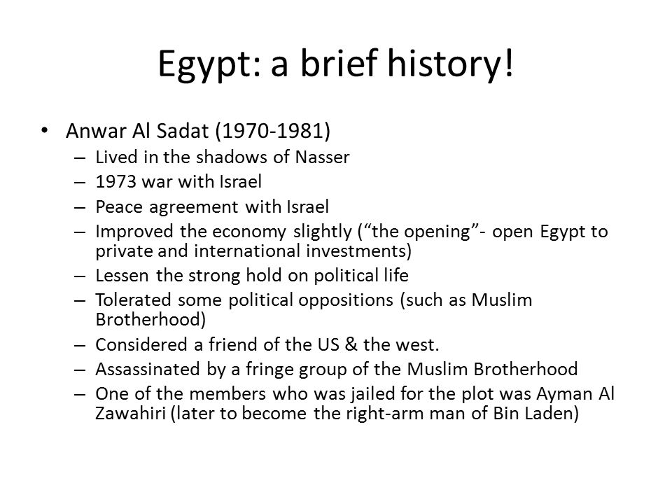 Egypt: a brief history.